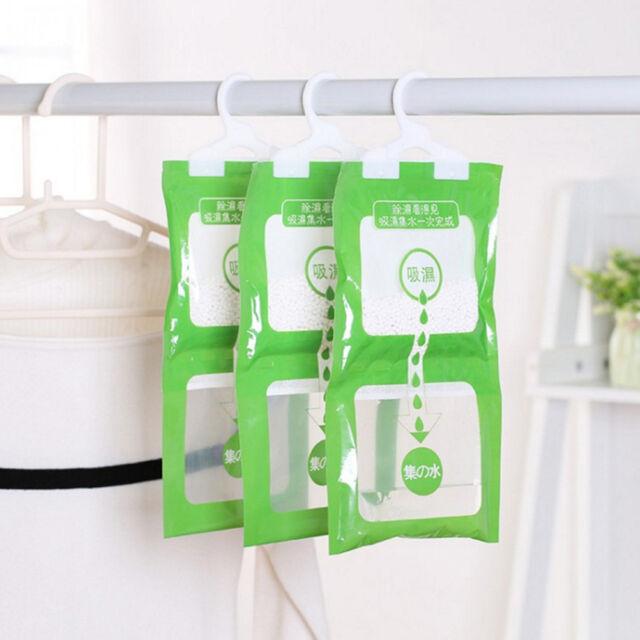 Household Moisture Absorbent Bag Hanging Wardrobe Closet Desiccant Bag v!
