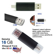 16GB OTG Dual USB Micro USB Flash Drive for PC/Phone - USA Shipped - Best Price!
