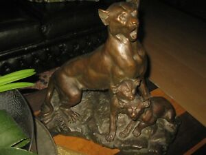 CARTIER-XIX-Jhd-Spielende-Tierfamilie