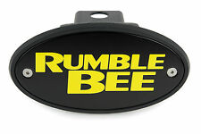 Rumble Bee Receiver Hitch Cover Plug - Black - Yellow Engraving - Made in USA