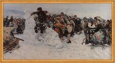 Taking a Snow Town Wassili Iwanowitsch Surikow Winter Schnee Figur B A1 03432