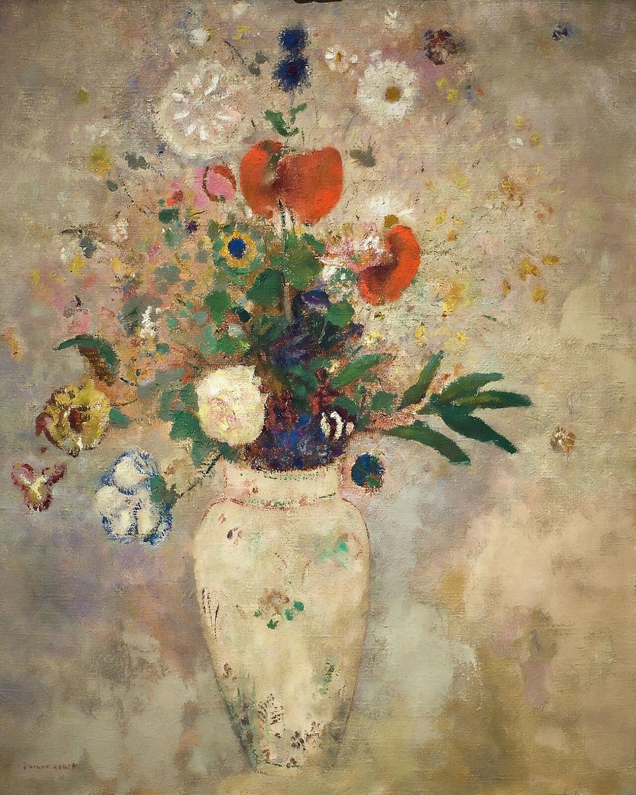 A Vase of Flowers - rotdon  CANVAS or PRINT WALL ART