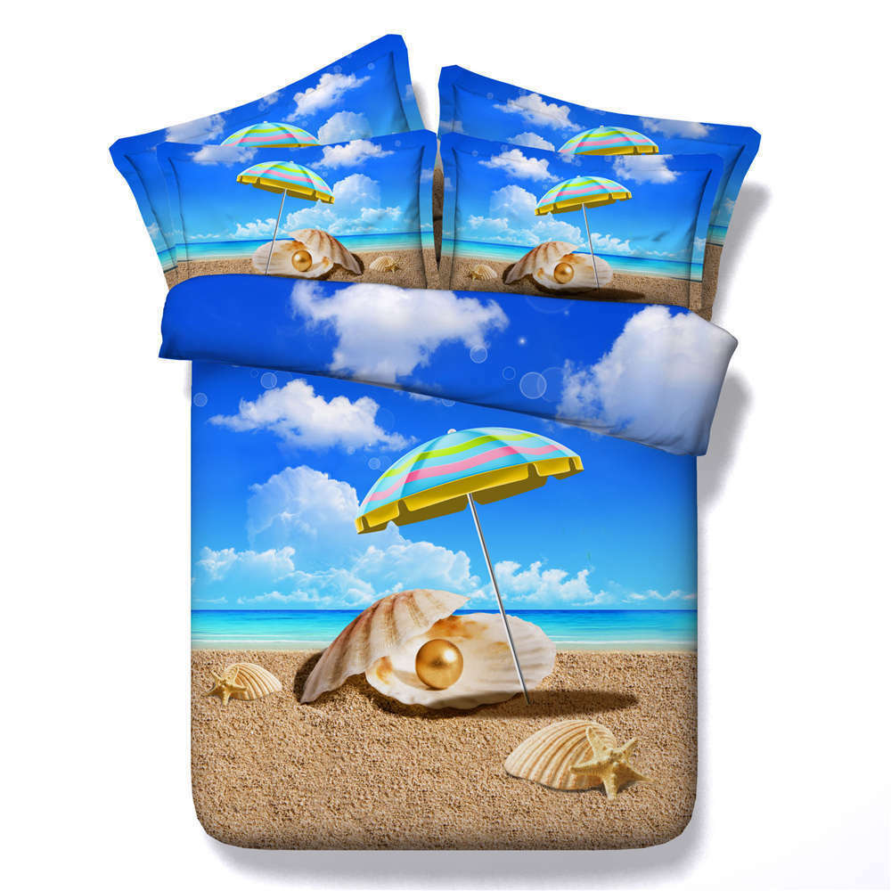 Clear Sky 3D Printing Duvet Quilt Doona Covers Pillow Case Bedding Sets