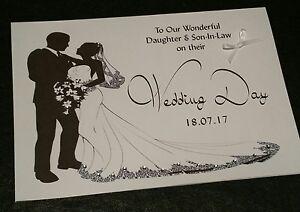 PERSONALISED GEMSTONES WEDDING DAY CARD - DAUGHTER/SON IN ...