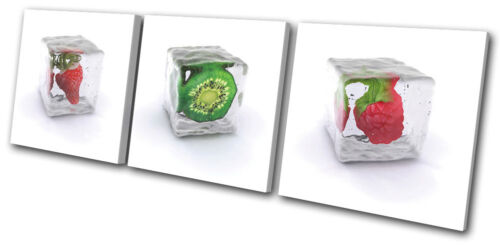 Food Kitchen Fruits Ice  TREBLE CANVAS WALL ART Picture Print VA