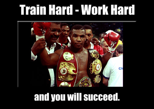 Mike Tyson Boxing Legend Train Work Hard Motivation Poster Sport Star Picture
