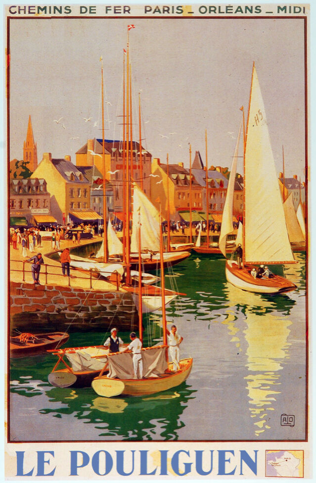 6015. Le Pouliguen POSTER. Sailing boats Travel  Wall Art Decorative.Design