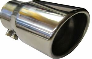 """Chevrolet Matiz 4.75/"""" 120MM ROUND EXIT EXHAUST TIP TAIL PIPE STAINLESS SCREW ON"""
