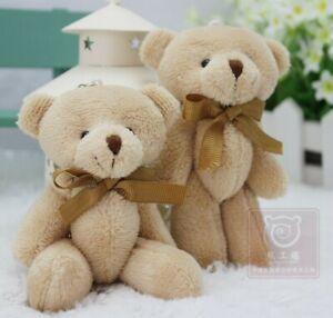 Bow-tie-brown-teddy-bear-mini-joint-plush-keychain-bear-bouquet-toy-phone