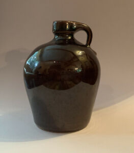 Rowe-Pottery-Works-1991-Miniature-Brown-Jug-3-5-Inches-Tall