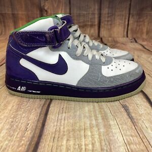 Nike-Air-Force-1-Cement-Basketball-Shoes-Youth-Size-5-5-Athletic-Shoes