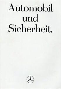 0524MB-Mercedes-Automobil-Sicherheit-Prospekt-1984-6-84-deutsch-brochure-catalog