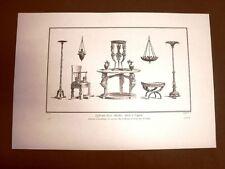 Vasi mobili altari di Ercolano Portici Napoli Voyage Pittoresque Saint Non