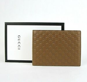 Gucci-Men-039-s-Brown-Microguccissima-Leather-Bi-fold-Wallet-275896-2527
