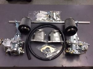 VW-Dune-Buggy-Dual-EPC-34-EMPI-Carb-Kit-Dual-Port-Vw-Type-1-Carburetor