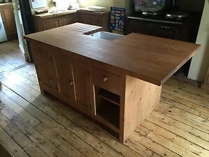 Image Is Loading Solid Pine Freestanding Kitchen Island Unit With Belfast