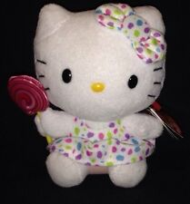 Hello Kitty Beanie Baby Lollipop & Dress Stuffed Animal TY Plush Toy Sanrio NWT