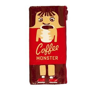 Blue-Q-Red-Coffee-Monster-Cartoon-Zipped-Comedy-Storage-or-Pencil-Case-21cm
