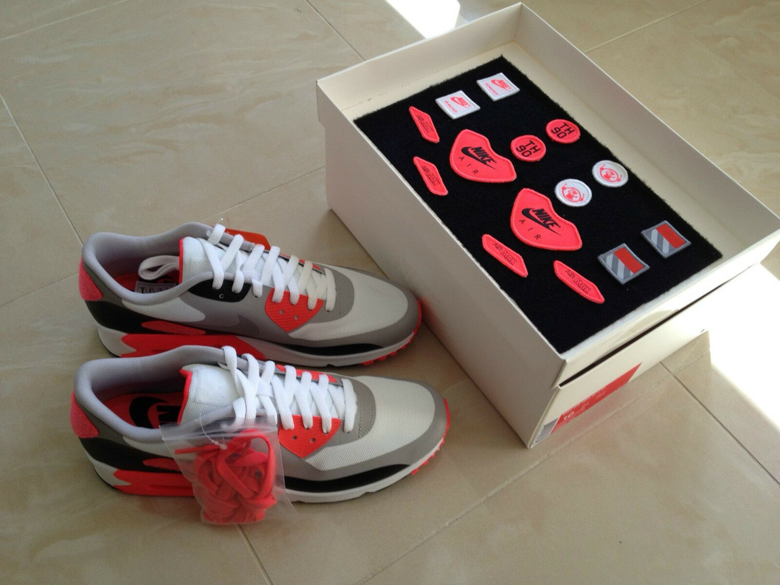 NIKE AIR MAX 90 PATCH OG TRAINERS Schuhe SNEAKERS SIZE UK 8.5 & 12 NEW LOOK
