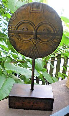 Afrika ♥ Maske Im Ashanti-stil ♥ Skulptur Aus Blech ♥ Replik ♥ Deko ♥ Ø 19cm ♥