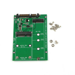 2 in 1 Combo Mini PCI E 2 Lane M.2 NGFF /& mSATA SSD to SATA 3.0 III Adapter