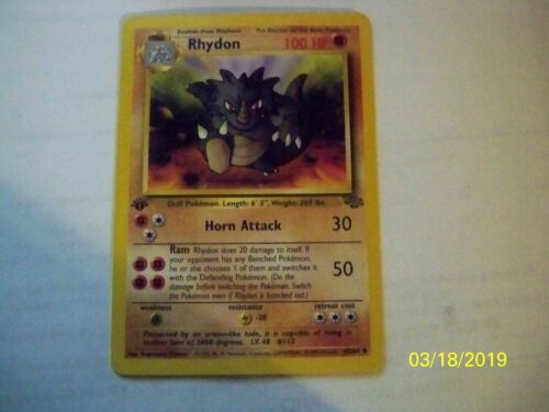 RHYDON Base Set 2-59//130 Uncommon Pokemon Card 1st edition