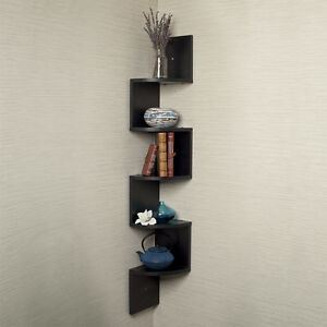 Image Is Loading Danya B Large Laminated Black Corner Wall Mount