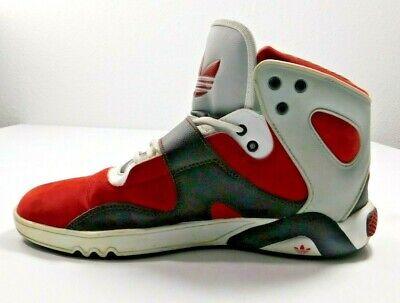 Adidas Mens Shoes Size 8.5 Red Black Gray 2012 Basketball Wrestling Skater Urban | eBay