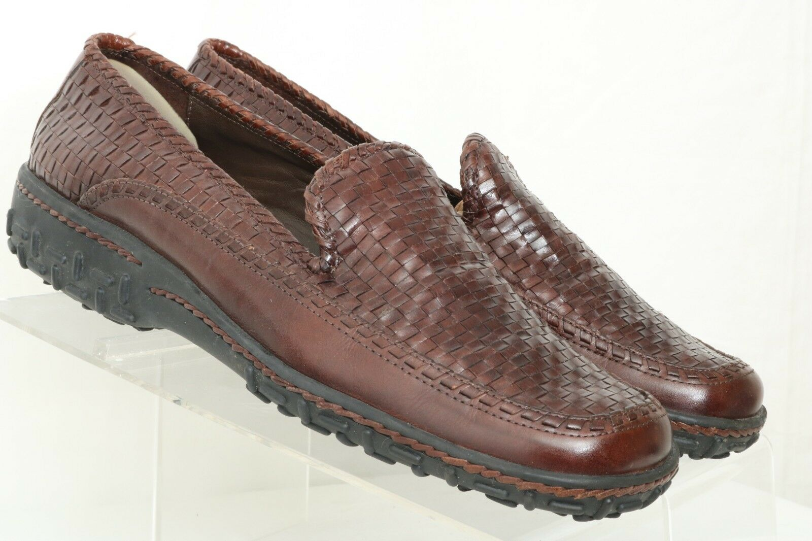 Cole Haan Brown Woven Wedge Casual Slip On Loafers 202896 Women's US 9.5 AA