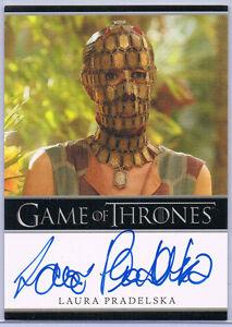 GAME OF THRONES; LAURA PRADELSKA AS QUAITHE AUTOGRAPH CARD ... Quaithe Game Of Thrones