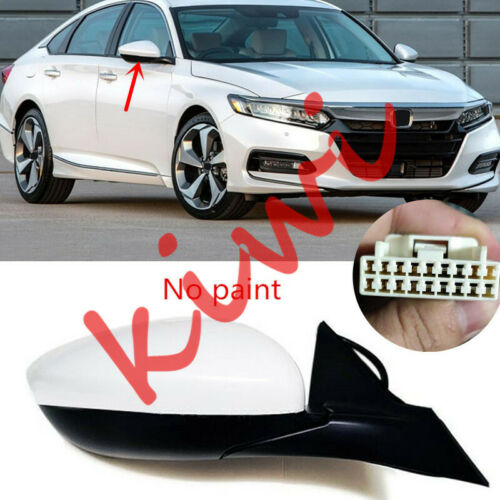Right Side Rearview Mirror Assembly 7Pin NO Paint For Honda Accord 2018-2019