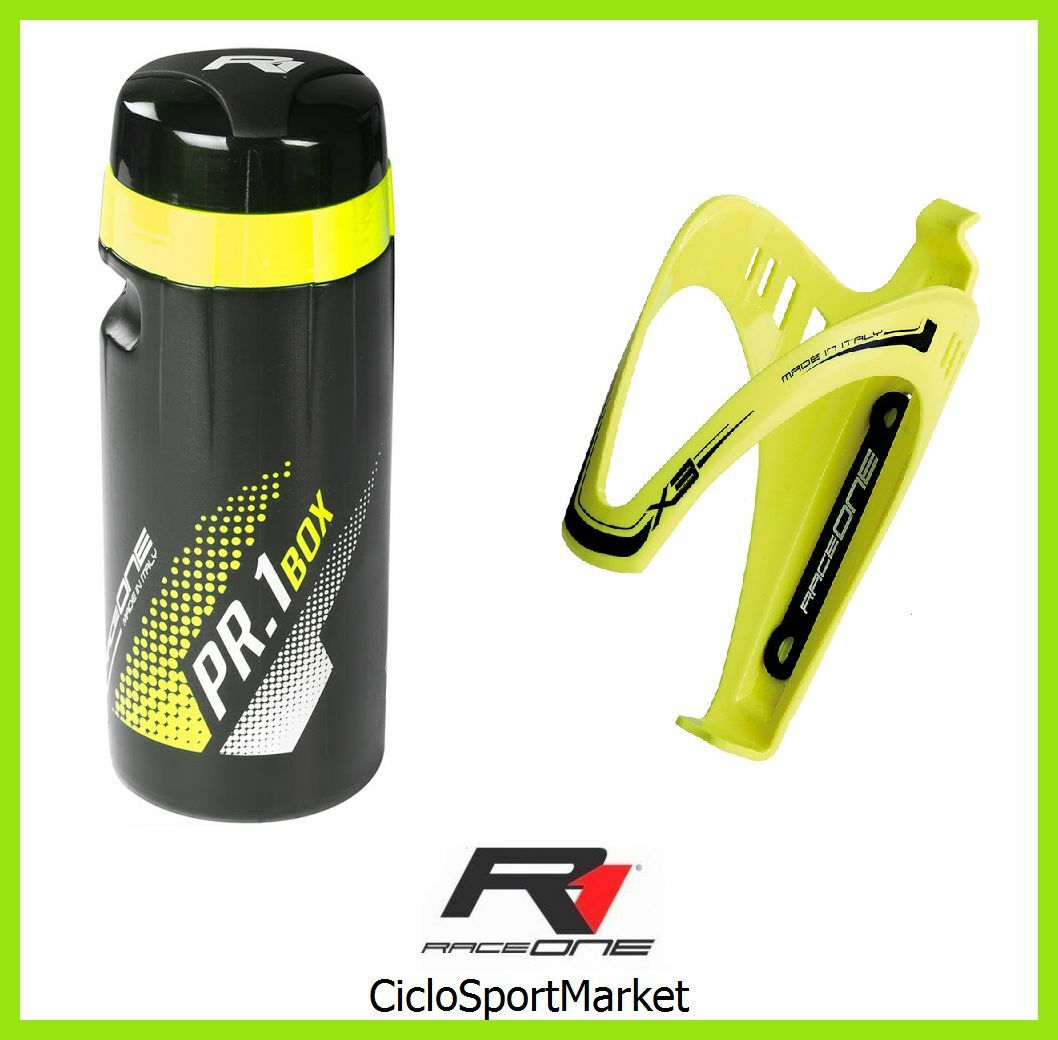 Water Bottle for  Objects Carrier 16.9 oz + Bottle Holder Raceone - Yellow  more order