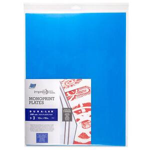 Grafix : Impress Print Media : Monoprint Plate : 12x16in : Pack of 3