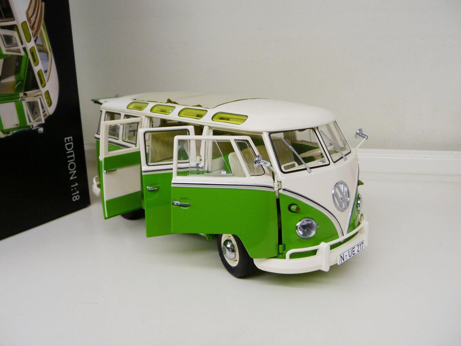 Vw volkswagen t1 samba - bus 18 schuco lightGrün new free shipping worldwide