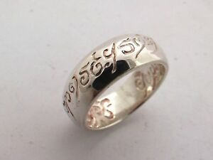 ANELLO ARGENTO SIGNORE DEGLI ANELLI LORD OF THE RINGS STERLING SILVER  RING