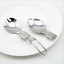 Outdoor Camping Tableware set Stainless Steel Folding Fork Spoon OiRrE liu