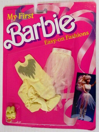 NEW My First Barbie Easy-on Fashions Yellow Ballet Ensemble 1874