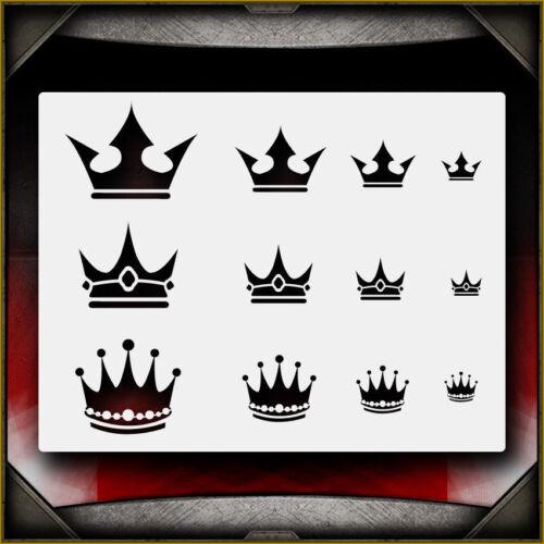 "/""Crowns 1/"" Airbrush Stencil Template Airsick"