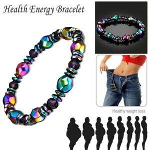 Magnetic Healing Therapy Bracelet Hematite Weight Loss Women Men Jewellery Gift