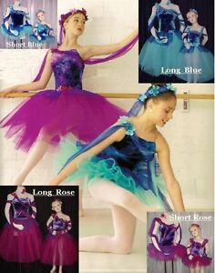 Short /& Long Child Romantic Ballet Tutu Dance Costume CLEARANCE Half Price