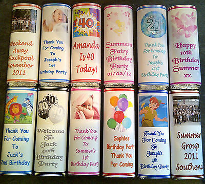 50 Personalised Birthday Chocolate Bar Wrappers  Favours, Gifts, christening ect