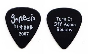 Genesis-Turn-it-Off-Again-Tech-Black-Guitar-Pick-2007-Tour