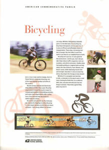 896-45c-Forever-Bicycling-4687-90-USPS-Commemorative-Stamp-Panel