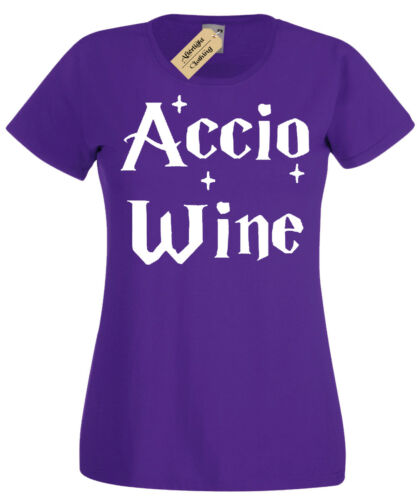 Accio WINE Womens T-Shirt Funny harry inspired potter gift idea ladies