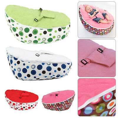 Baby Bean Bag Adjustable Harness Kids Toddler Chair Bouncer Beanbag Cover P