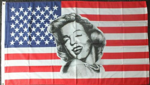 USA MARILYN MONROE Quality Fabric Flag 5Ft X 3Ft Durable Outdoor Brass Eyelets