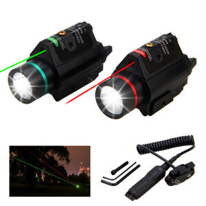 Tactical-Combo-LED-Flashlight-amp-Green-RED-Laser-Sight-20mm-Picatinny-Rail-Mount