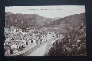 Tarjeta-Postal-Antigua-CPA-Avene-Les-Bains-Vista-Parcial