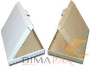 Envio-Grande-Carton-180X-160X-15mm-Carta-Caja-Postal-Caja-Plegable-Marron-Blanco