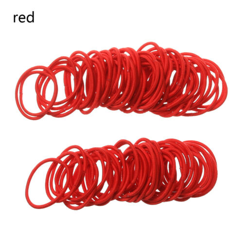 100PCS Girls Candy Colors Nylon 3CM Rubber Bands Children Elastic Hair Bands